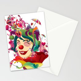 happines is not always feeling happy Stationery Cards