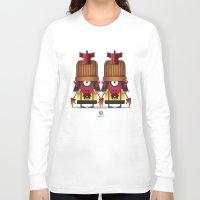 gemini Long Sleeve T-shirts featuring GEMINI by Angelo Cerantola