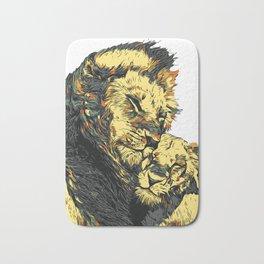 Lion in Love Bath Mat