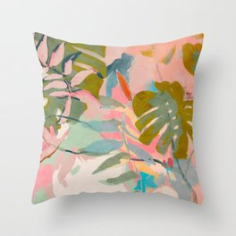 tropical home jungle abstract Throw Pillow