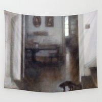 shadow Wall Tapestries featuring Shadow by Aurelia Burnham