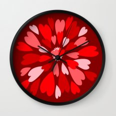 Love Is / Hearts Galore Wall Clock