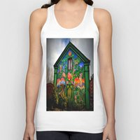 hippy Tank Tops featuring house hippy by  Agostino Lo Coco