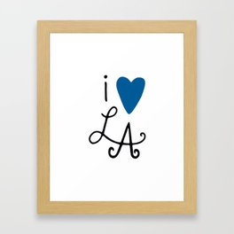 i heart LA ~ Blue! Framed Art Print