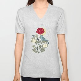 The Nightingale and the Rose Unisex V-Neck