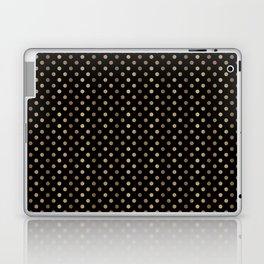 Gold & Black Polka Dots Laptop & iPad Skin