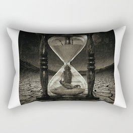 Sands of Time ... Memento Mori - Monochrome Rectangular Pillow