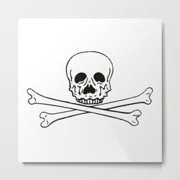 Skull and bones 3 Metal Print