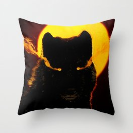 Malevolent Wolf Throw Pillow