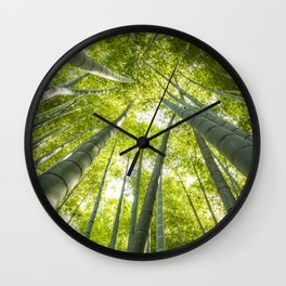 Bamboo forest in Japan Wall Clock