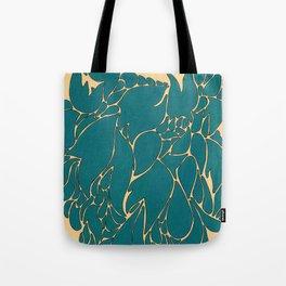 Blue Number 1 Tote Bag