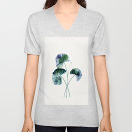 Water lily leaves Unisex V-Neck