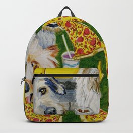 Canines Feast On New York Pizza Backpack