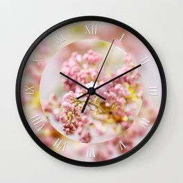 Purple Syringa vulgaris soft closeup Wall Clock