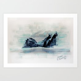 Rectangles - Perspective of Milford Sound Art Print