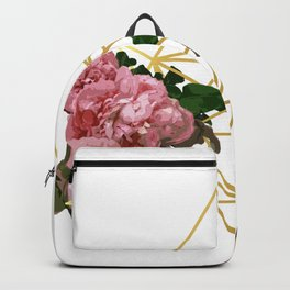 Geometric Peonies Backpack