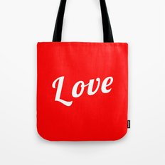 Love, Valentine's Day, Red, Typèography. Worldwide Shipping Tote Bag