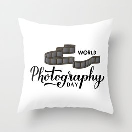 World Photography Day  Throw Pillow