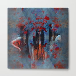 Abstract three women Metal Print