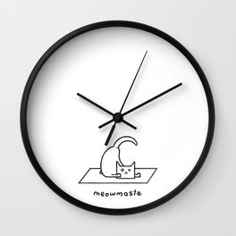 Meowmaste Wall Clock