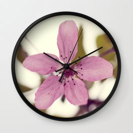 Pink blooming tree Wall Clock