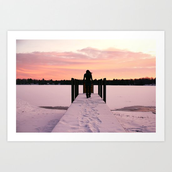 Throw Me Into the Lake.  Art Print