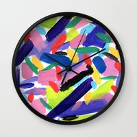 glee Wall Clocks featuring Glee by Ink and Paint Studio