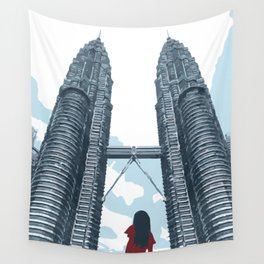 Petronas Twin Towers Wall Tapestry