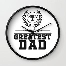 World`s Greatest DAD Wall Clock