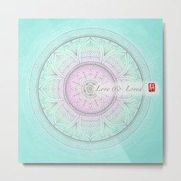 Mandala - Love & Loved Metal Print
