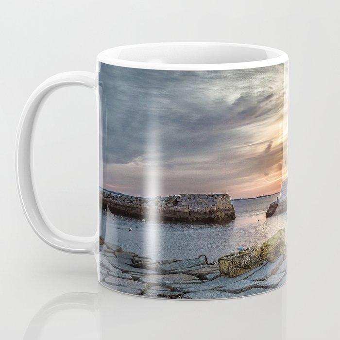 Lobster Trap sunset at lanes cove Coffee Mug