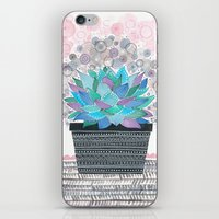 succulent iPhone & iPod Skins featuring succulent by Asja Boros