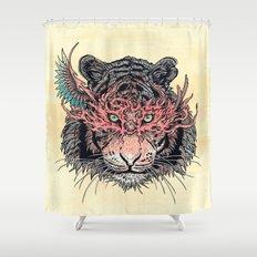 Masked Tiger Shower Curtain