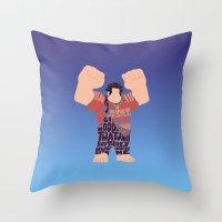 wreck it ralph Throw Pillows featuring Ralph by pokegirl93