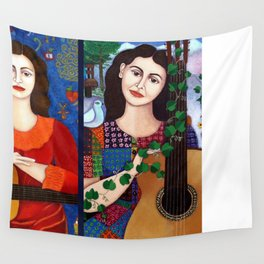 Violeta Parra collage Wall Tapestry