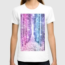 Magical Forest : Pastel Pink Lavender Aqua Periwinkle Ombre T-shirt