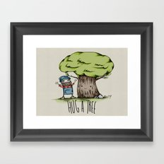 Hug a tree Framed Art Print