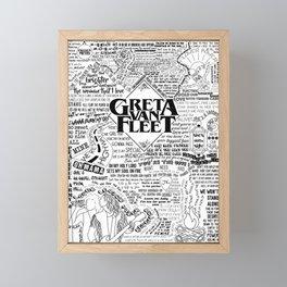 Greta Van Fleet Framed Mini Art Print
