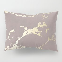 Kintsugi Ceramic Gold on Red Earth Pillow Sham
