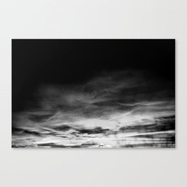 BLACK & WHITE TOUCHING #1 #abstract #decor #art #society6 Canvas Print