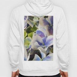 Hydrangea in Blue 3 - Close Up Like Butterflies Hoody