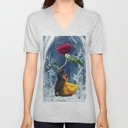 Beauty and the Beast-Rose Unisex V-Neck