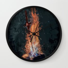 A bonefire Wall Clock