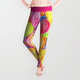 Vietnamese Rainbow Lanterns Leggings