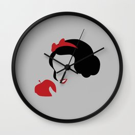 Snow white and  the poisoned apple Wall Clock