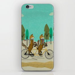 foxy days lets tandem iPhone Skin