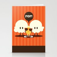 pop art Stationery Cards featuring Pop! by Steph Dillon