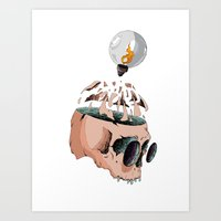 imagine Art Prints featuring Imagine by PAFF