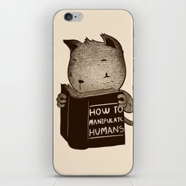 Cat Book How To Manipulate Humans iPhone Skin