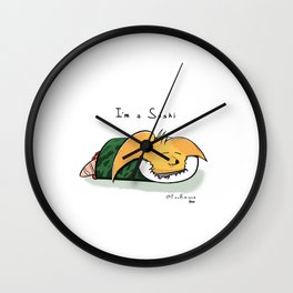 S U S H I IS ME Wall Clock